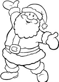 santa pictures to colour for free christmas coloring pages