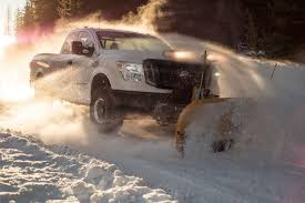 nissan truck titan nissan titan xd snow plow package is ready for the white stuff