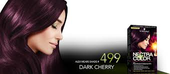 brown cherry hair color nectra color shade 499 dark cherry