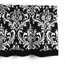 Damask Kitchen Curtains by Premier Prints Black And White Damask Valance 50