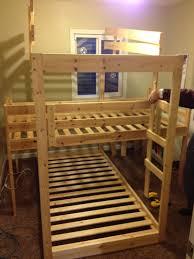 Wood Bunk Bed Plans Bedroom 3 Tier Bunk Beds Build Your Own Triple Bunk Bed Simple