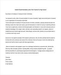 reference letter for student teacher templatesample high