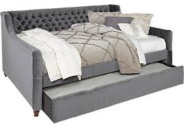 alena charcoal dark gray 3 pc twin daybed with trundle