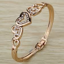 rose gold crystal bangle bracelet images Rose gold bracelets bright and extraordinary jpg
