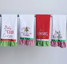 christmas towels embroidered christmas tea towels set of 4 christmas kitchen