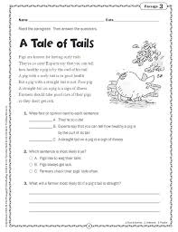 comprehension skills short passages for close reading grade 2