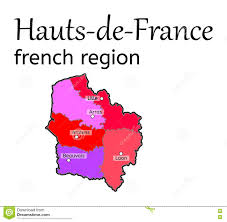 France Region Map by Hauts De France French Region Map Stock Vector Image 80309826