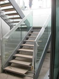Banister Railing Concept Ideas Incridible Chrome Metal Modern Spiral Open Staircase And Clear