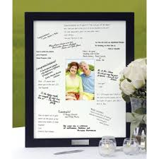50th anniversary guest book personalized guest book frame
