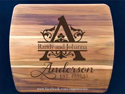 cutting board personalized engraved cutting board personalized engrave cave llc