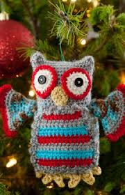 crochet hoot owl ornament the crochet crowd