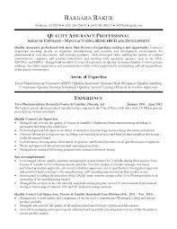 Microbiologist Resume Sample by Resume For Quality Control Resume Sample 2015 Resume Format 2015