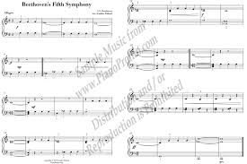 fifth symphony theme for easy piano sheet music piano pronto