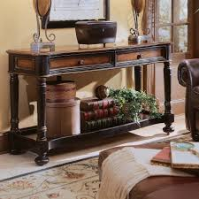 accent table ideas traditional distressed cherry finish entry hallway accent sofa