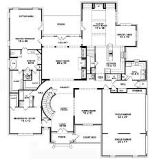 5 bedroom single story house plans 5 floor house plans home deco plans