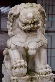 foo dog statues photo fu dog statue in chinatown vancouver canada
