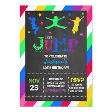jump bounce house troline birthday invitation zazzle