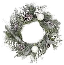 frosted faux pine cone wreath 24 contemporary wreaths and