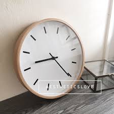 minimalist wall clock minimalist wall clock minimalist wood wall clock home furniture on