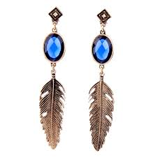 feather earrings online aliexpress buy vintage ear piercing feather earrings online