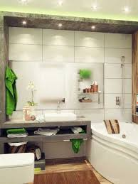 Neutral Color Bathrooms - modern small bathroom decorating in eco style neutral colors with