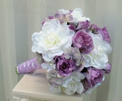 gardenia bouquet white gardenia lavender wedding bouquet in bloom