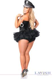 police halloween costumes black satin cop police corset halloween costume