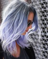 salt and pepper hair with lilac tips grey roots melting into lavender ends hair pinterest dark