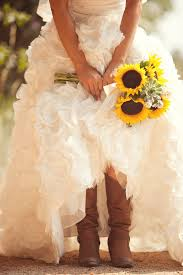 thinking about wearing cowboy boots under your wedding dress