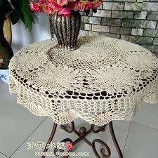 round table cloth covers small table cover french style fashion handmade crochet small round