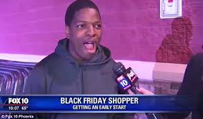 best black friday deals on a tv arizona black friday shopper jarvis johnson sets up camp with a tv