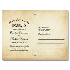 wedding save the date postcards vintage wedding save the date swirl and flourish postcard save the
