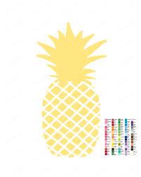 Pineapple Home Decor Pineapple Print Pineapple Wall Art Pineapple Home Decor Fun