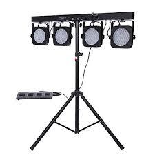 stage lighting tripod stands ridgeyard 4 bar led mobile dj stage wash light system rgb par dmx