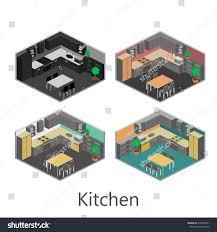 isometric interior kitchen stock vector 412209331 shutterstock