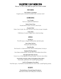 valentine u0027s day menu the bungalow restaurant visit newport beach