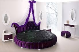 Bedroom Design Purple And Cream Bedroom Outstanding Bedroom Design With Brown Round Bed And