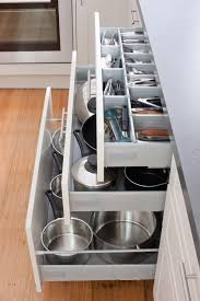 Kitchen Inserts For Cabinets by Keep Your Kitchen In Order With Our Pot Drawers And Cutlery
