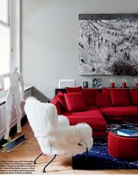 blue and red living room luxury home design ideas