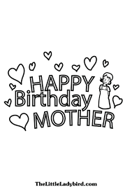 birthday coloring pages for mom happy birthday coloring pages