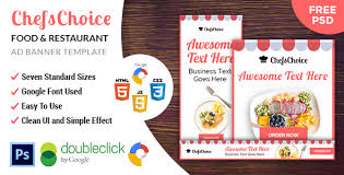 awesome chefschoice restaurant html five animated google banner
