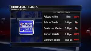 nba unveils christmas day schedule 2015 youtube