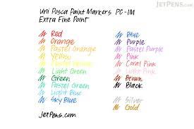 uni posca paint marker pc 1m extra fine point 8 color set