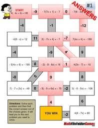distributive property mazes fun worksheets by mathfilefoldergames