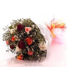 Multi Colored Roses Buy Online Dozen Multicolored Roses Flowers Kapruka