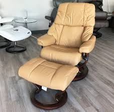Yellow Recliner Chair Reno Pearl Leather Recliner Chair And Ottoman By Ekornes