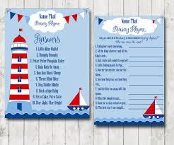 nautical theme baby shower game set printable baby shower ice