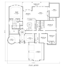 House Plans Single Story Four Bedroom One Story House Plans Nrtradiant Com