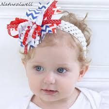 4th of july headband naturalwell 4th of july baby girl white blue headband boutique