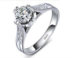 platinum sterling rings images Beautiful platinum filled 925 sterling silver wedding ring with jpg